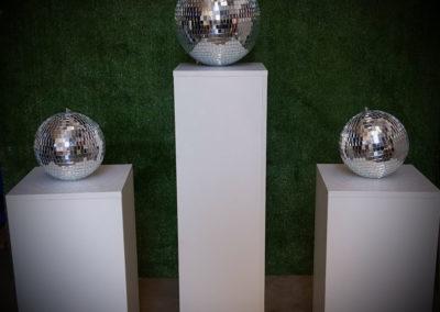 Plinths & disco balls