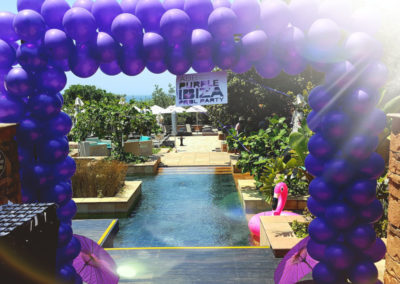 Purple Square spiral arch for a promotion